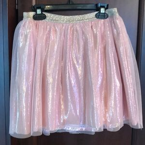 Girls pink and gold iridescent skit size 10/12